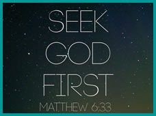 Graphic: seek first the kingdom